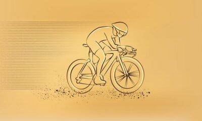 Sticker Course cycliste.