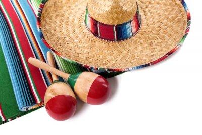 Sticker Couverture mexicaine et sombrero