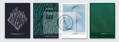 Sticker Couvrir les modèles ensemble, vecteur abstrait géométrique. Dépliant, présentation, brochure, bannière, conception d'affiche.