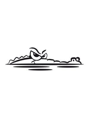 Sticker Crocodile lauren eau