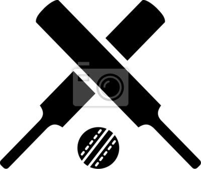 Croisés avec des battes de cricket balle