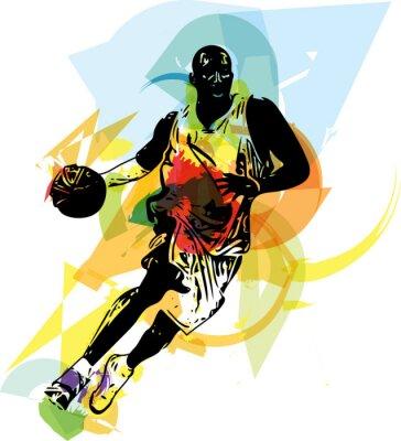Sticker Croquis de joueur de basket