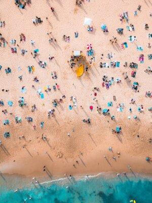 Sticker Crowded Beach