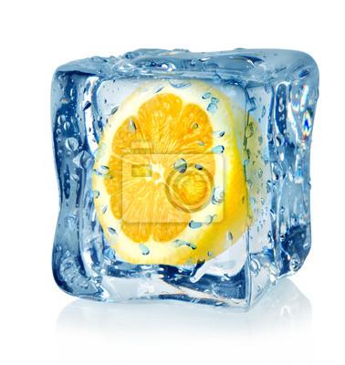 cube de glace et de citron