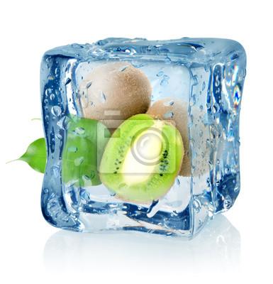 cube de glace et de kiwi