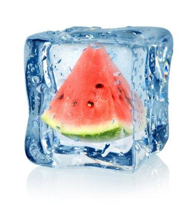 cube de glace et la pastèque