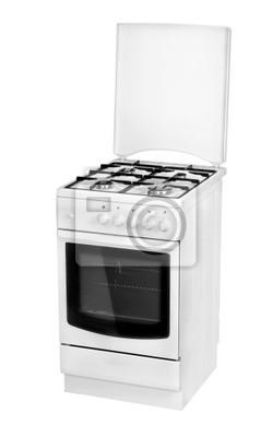 Cuisinière à gaz blanc isolé