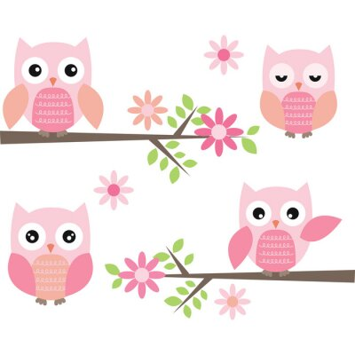 Sticker Cut Owl and Branches