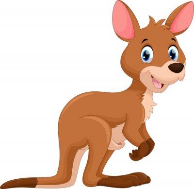 Sticker Cute kangourou dessin animé