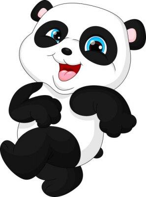 Sticker Cute panda bébé drôle