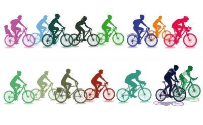 Sticker Cyclisme dans le groupe