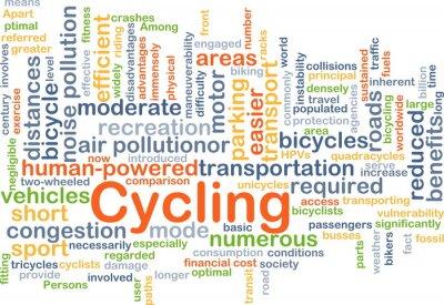 Sticker Cyclisme fond, concept