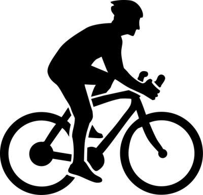 Sticker Cyclisme Silhouette