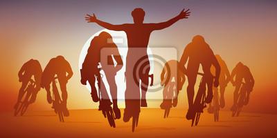 Cyclisme - sprint - cours - vélo - vainqueur - coureur - cycliste - compétition