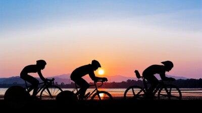 Sticker Cyclisme sur le temps de crépuscule