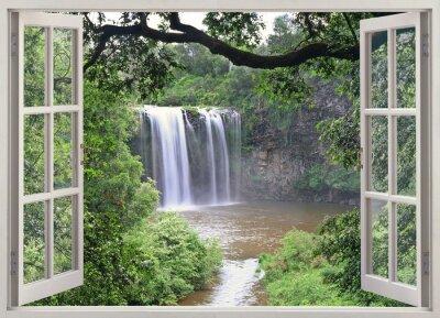 Sticker Dangar Falls View dans la fenêtre ouverte