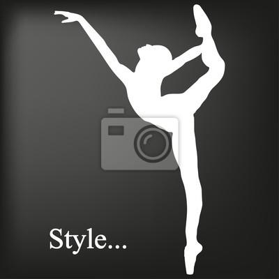 Danseur sur un fond noir