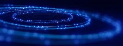 Sticker defocused image of  fiber optics lights abstract background