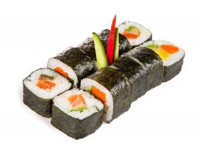 Sticker Délicieux morceaux de sushi