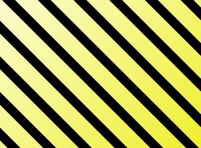 Sticker Des rayures diagonales jaune noir