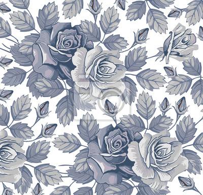 Des Roses Fleurs Modele Classique Belles Fleurs Bleues Vintage