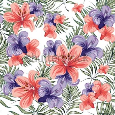 Sticker Des roses. Floraison printemps-été des plantes à fleurs. Modèle sans couture. Image vectorielle