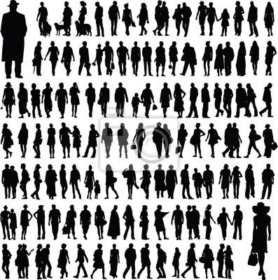 Sticker des silhouettes de personnes