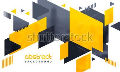 Sticker Design abstrait créatif décoré de fond.