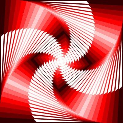Sticker Design coloré tourbillon mouvement illusion tétragone dos géométrique