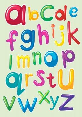 Sticker Design de fontes avec alphabets anglais