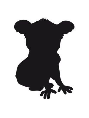 Sticker Design koala noir silhouette cool comique séance ombre ombre
