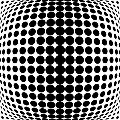 Sticker Design monochrome dots background
