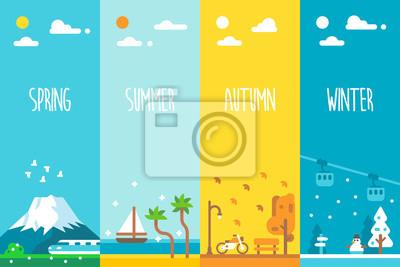 Sticker Design plat 4 saisons de fond