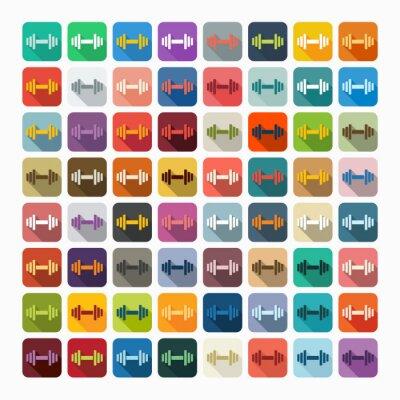 Sticker Design plat: haltère