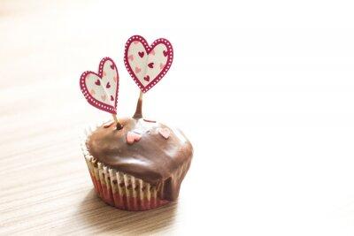 Sticker Dessert muffin au chocolat
