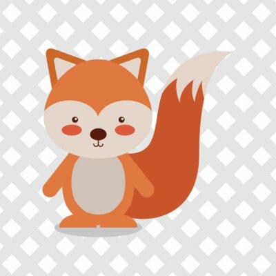 Sticker Dessin animé animal