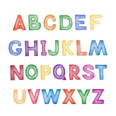 Sticker Dessin animé pour enfants ABC