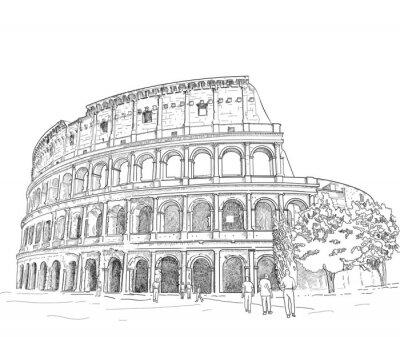Sticker Dessin Colosseum romain