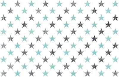 Sticker Dessin d'étoiles d'aquarelle.