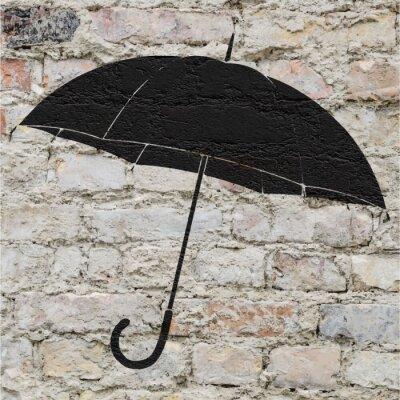 Sticker Dessin d'ONU sur parapluie non mur