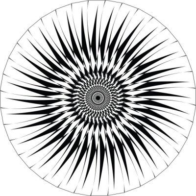 Sticker Dessin géométrique abstrait. vecteur de fond