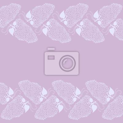 Dessin, lilas, branche, fleurs, violet, Couleurs