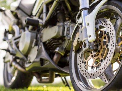 Sticker Détail de la roue avant d'une motocyclette