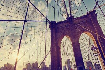 Détail structurel du pont de Brooklyn