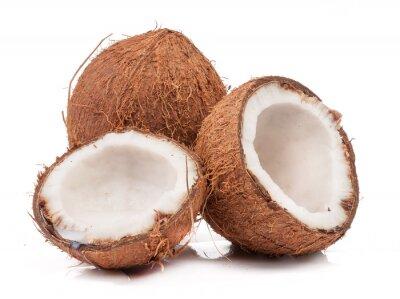 Sticker Deux noix de coco une fin de mois scission isolé