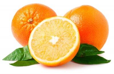 Sticker Deux, oranges, isolé, blanc