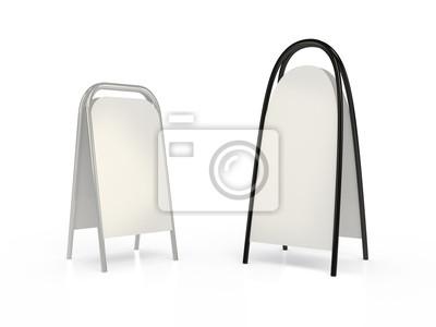 Deux panneaux blancs, 3D