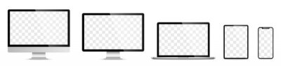 Sticker Device screen set - laptop smartphone tablet computer monitor. Vector
