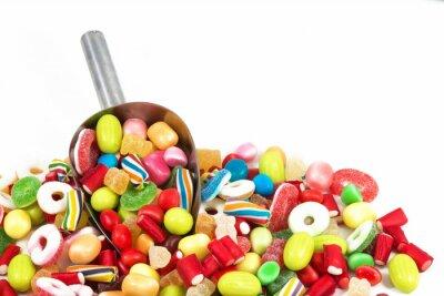 Sticker Différent, coloré, bonbons, isolé, blanc, fond