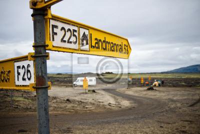 Direction sign en Islande
